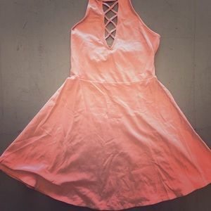 Pink peekaboo dress